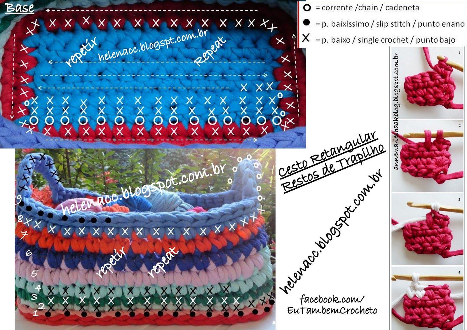 Um blog de crochet em fio de malha, trapilhos | RECEITAS CROCHE ANA ...