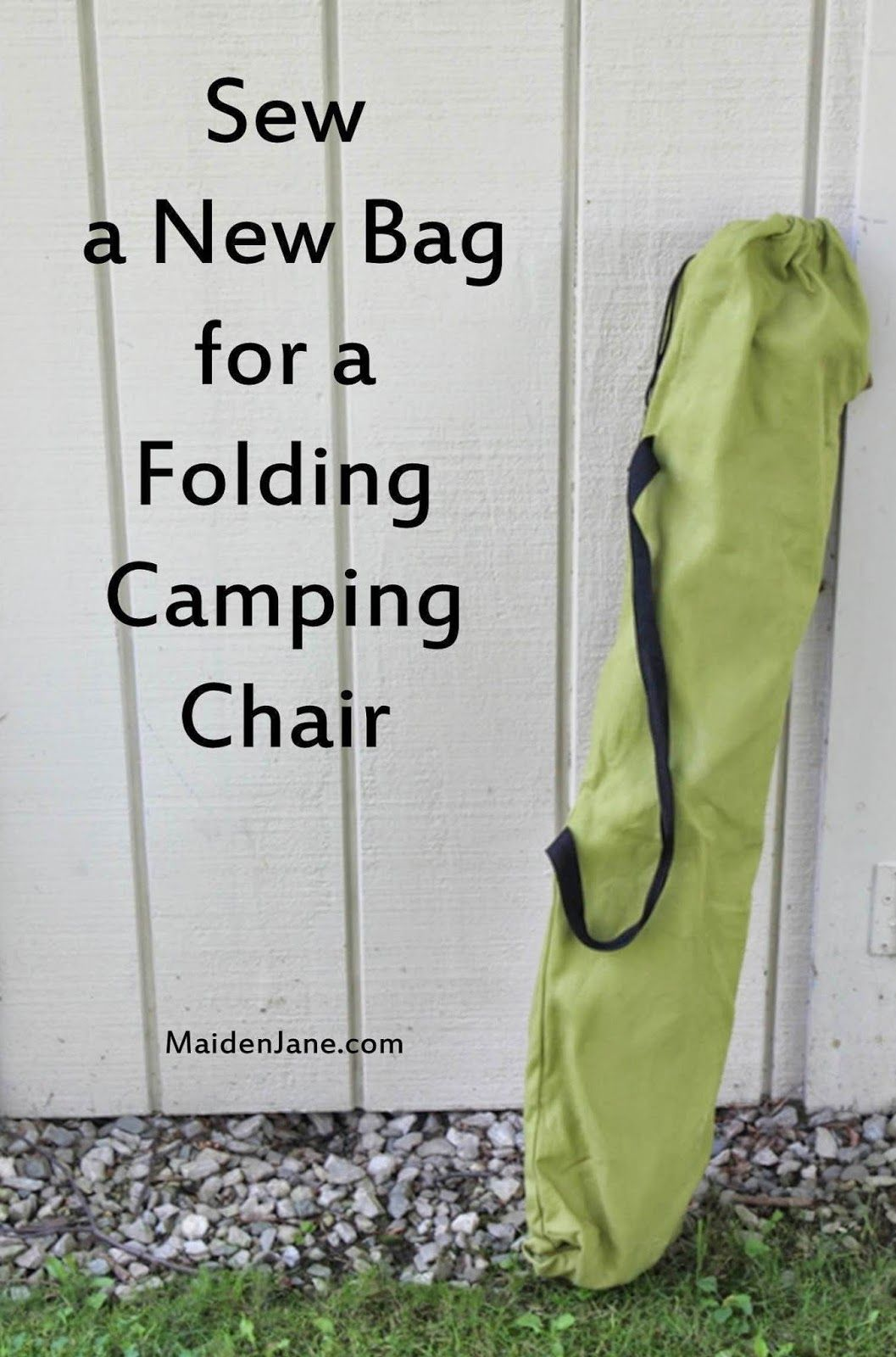 Sew A New Bag For A Folding Camping Chair   DIY   Tutorial