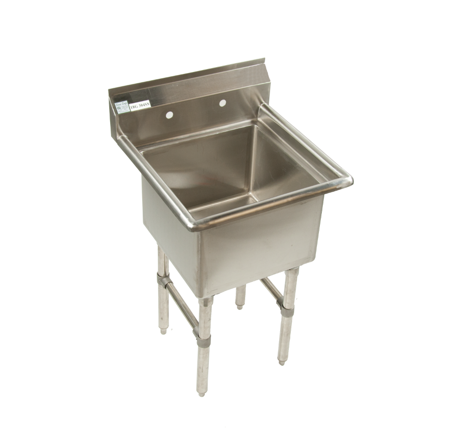 Stainless Steel Commercial Restaurant Prep Sink 1 Compartment