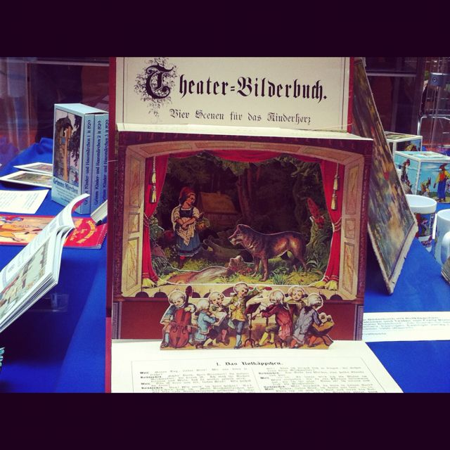 Old Childrens book designed as puppet theatres