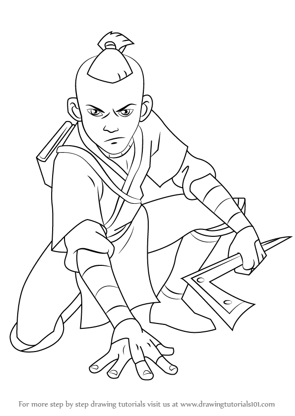 Learn How to Draw Sokka from Avatar The Last Airbender (Avatar: The ...