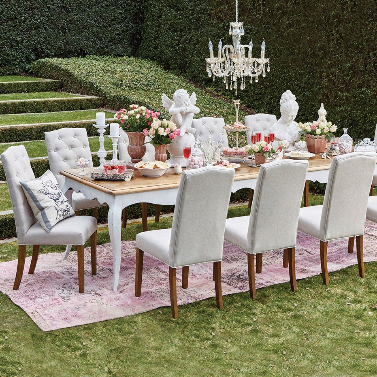 Louis XV 3000 Table With 10 Lucan Chairs Package