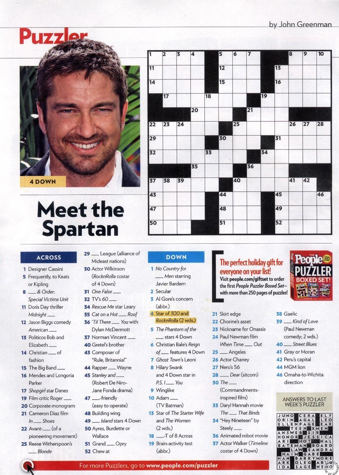 People Magazine Crosswords Printable Crossword Puzzles Crossword Puzzles People Magazine