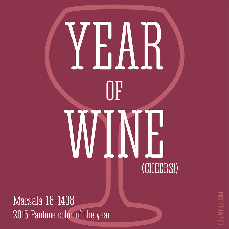 2015 Year of Wine (or spilled wine) #pantone #coloroftheyear (via 625paper.com) 2015