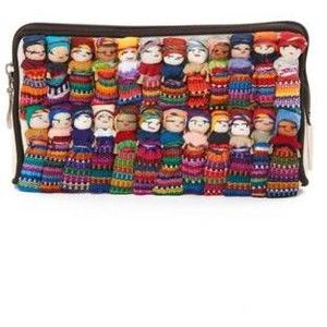 Cotton Canvas Worry Doll Cosmetic Bag - ROSEWOOD MAYAKOBA HOTELS & RESORTS Cotton Canvas Worry Doll Cosmetic Bag