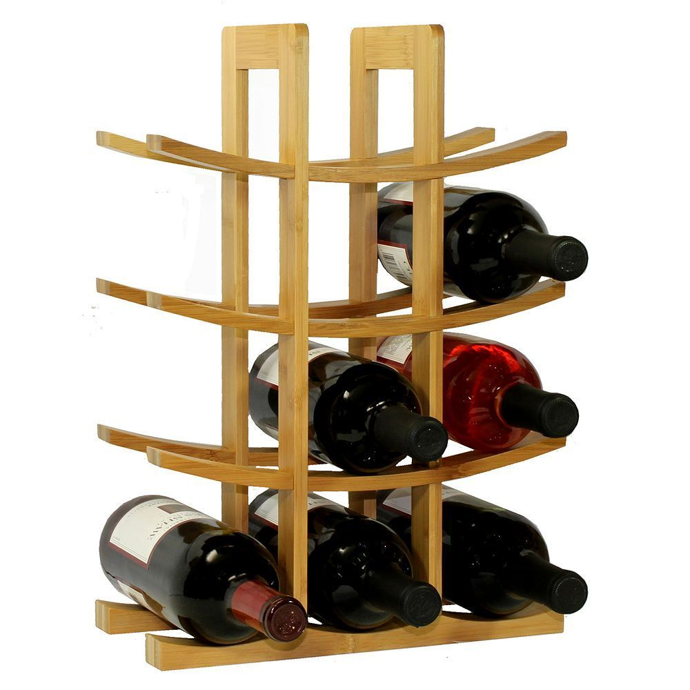 Oceanstar 12 Bottle Bamboo Wine Rack Brown Modern Wine Rack Wine Rack Wood Wine Racks
