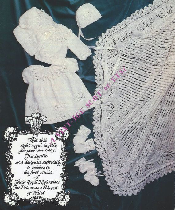 8e57da5f5 Baby QK 8ply Layette - Dress Matinee Jacket Shawl Bootees Mittens ...