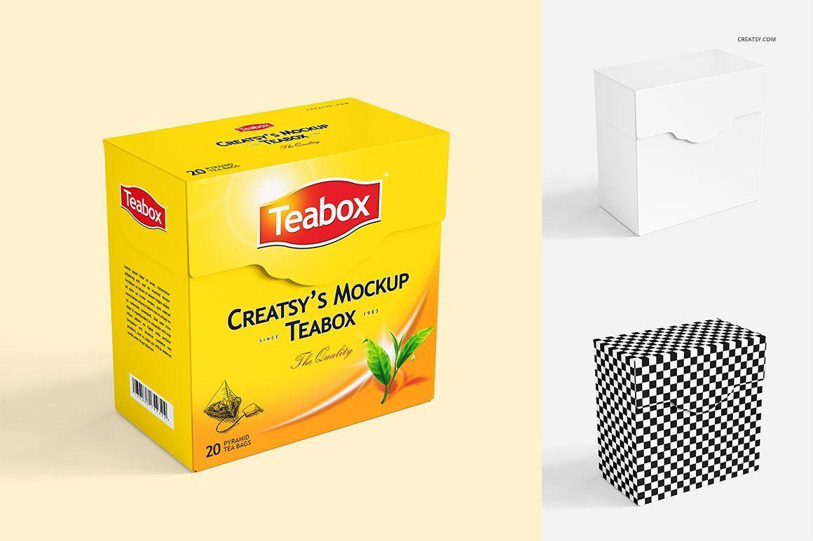 Download Tea Box Mockup Set 2 Box Mockup Tea Box Mockup