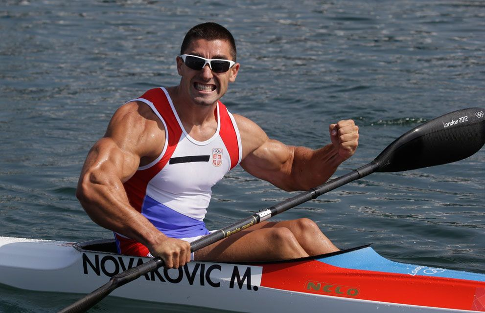 Serbia S Marko Novakovic Celebrates His Third Place Finish In A Men S Kayak Single 200m Semifinal In Eton Dor Men S Rowing Fitness Inspiration Olympic Athletes