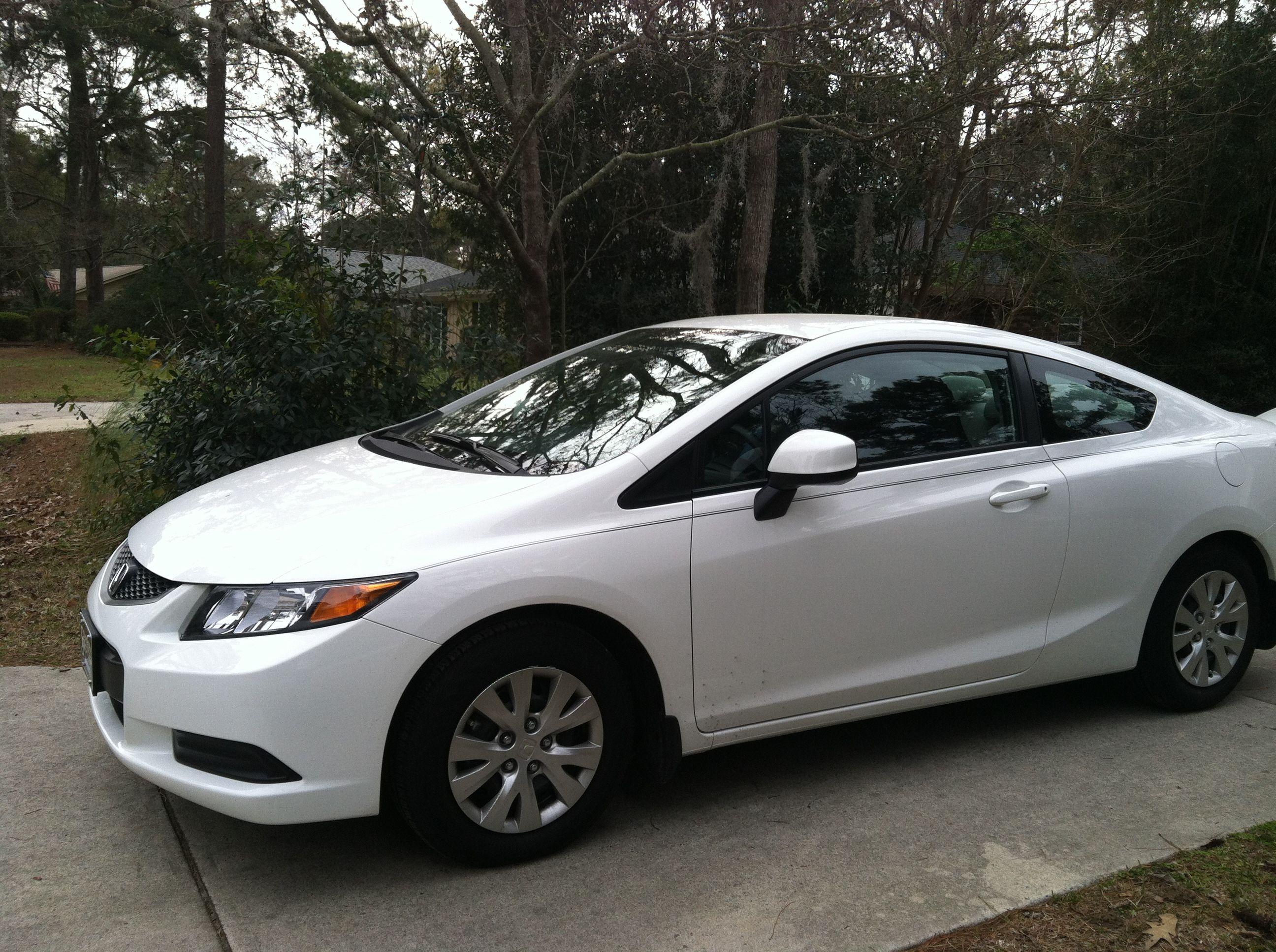 White 2012 Honda Civic Two Door