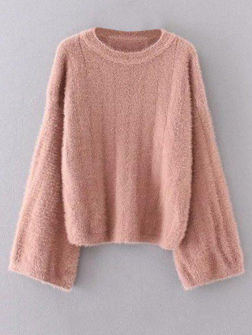 Oversized Fuzzy Sweater - WATERMELON RED ONE SIZE | SWEATERS ...