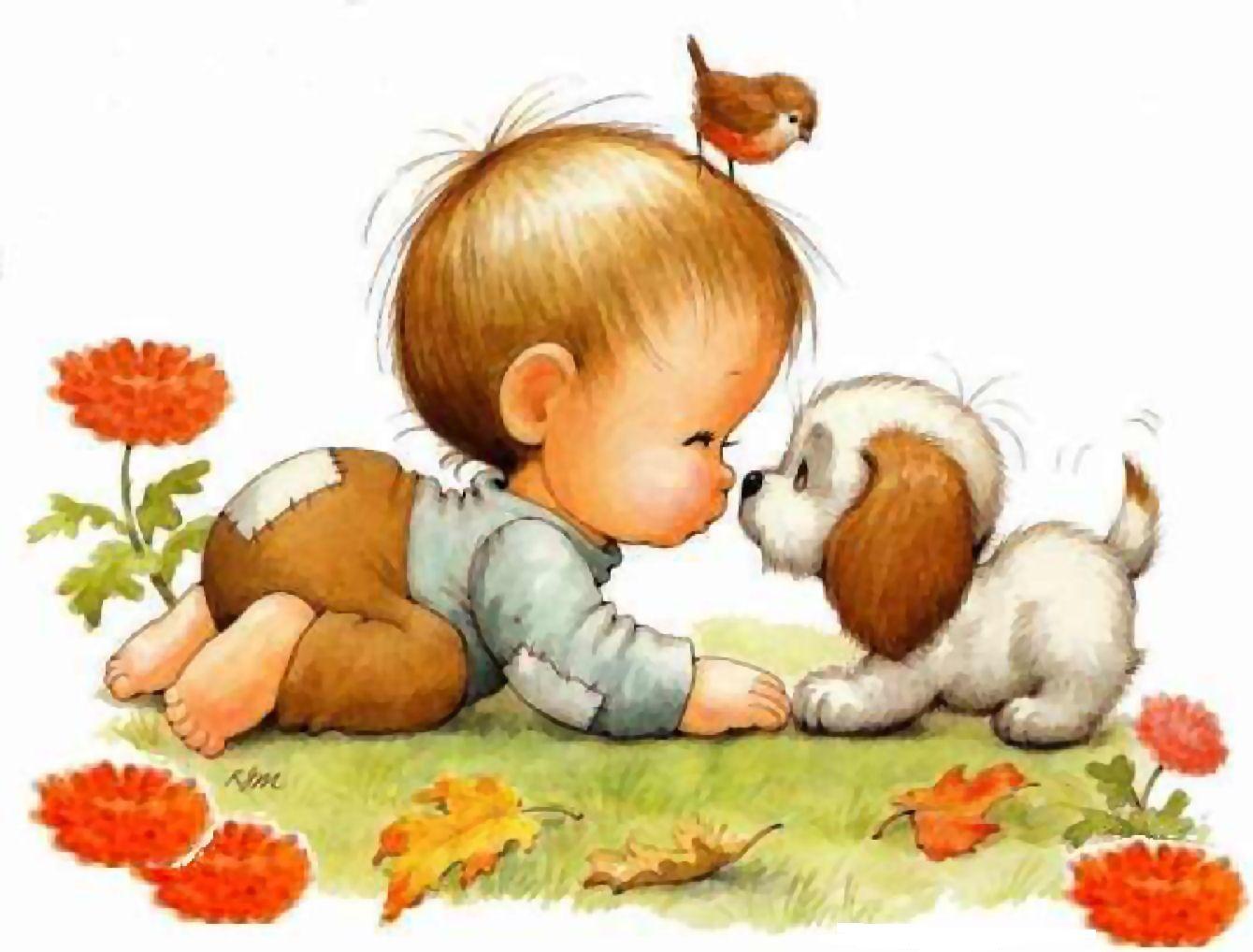 Днем рождения, рут морхед картинки малыш с шеном и котенком