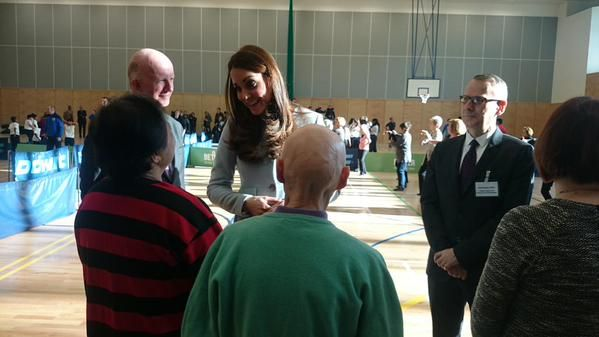 """Kensington Palace on Twitter: """"The Duchess of Cambridge meets local community groups using the new facilities at Kensington Leisure Centre http://t.co/1pDYhTKMdg"""""""