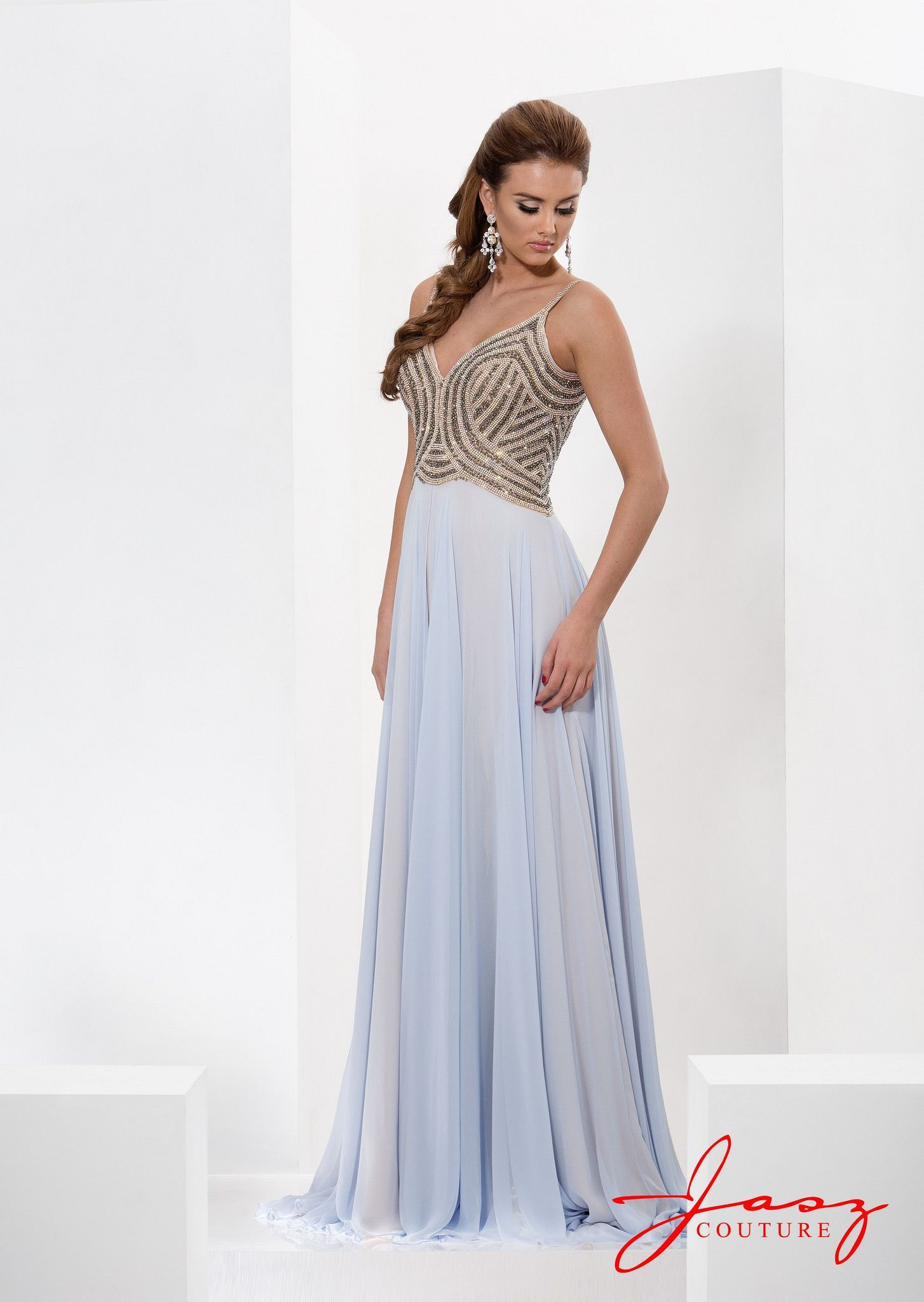 Jasz couture light bluenude pageants nude and couture