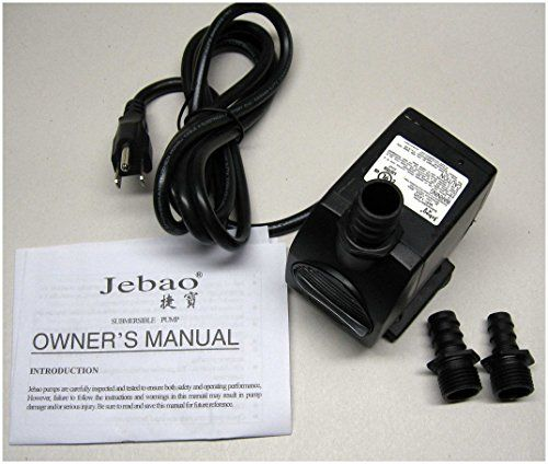 Jebao 317gph 120v Submersible Streampondfountain Water Pump Wp1200 See This Great Product Water Gardens Pond Pond Fountains Water Pumps