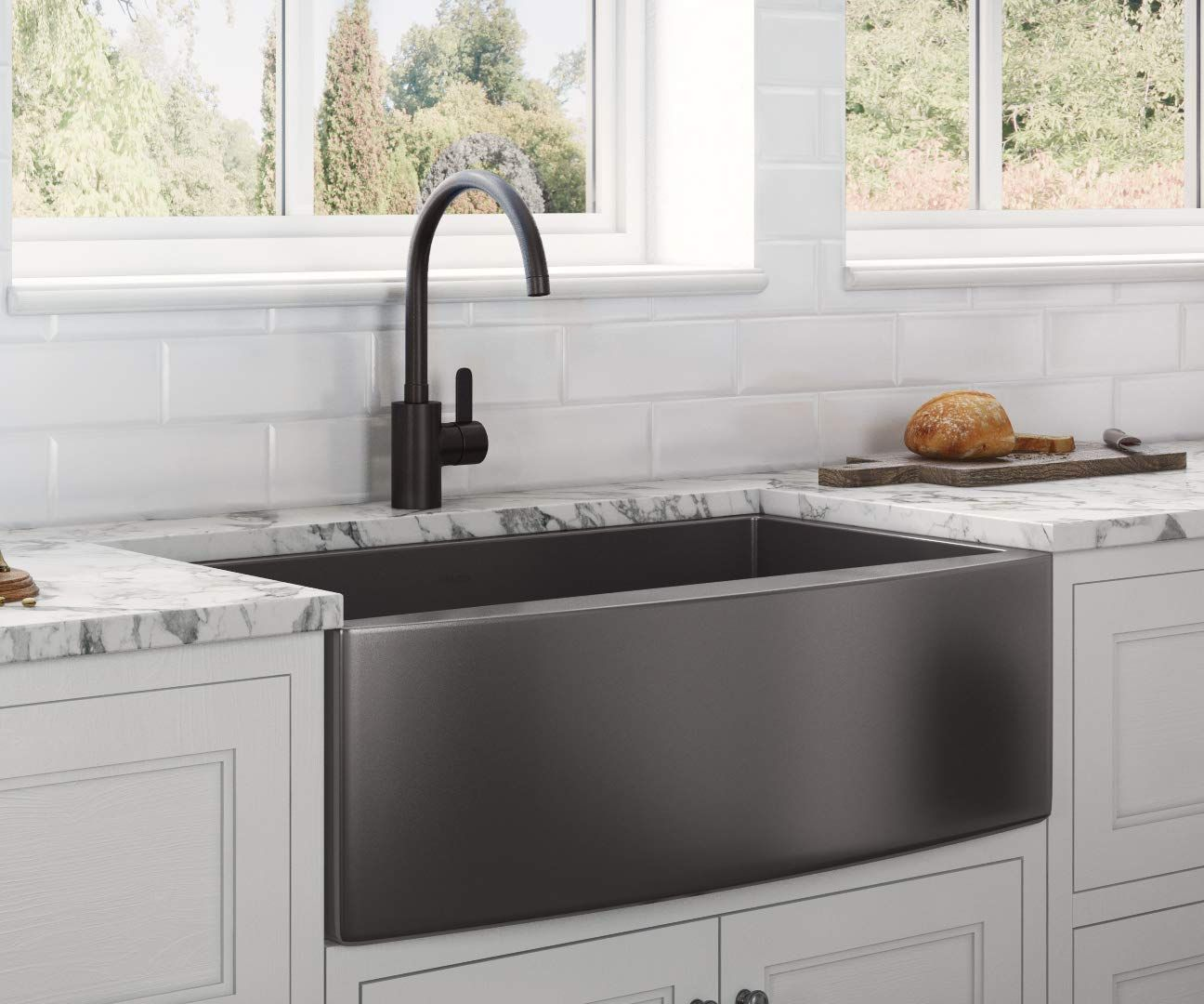 Best Black Farmhouse Sinks We Love Black Apron Front Sinks And All Sorts Of Farmhouse Sin In 2020 Farmhouse Sink Kitchen Apron Front Kitchen Sink Black Farmhouse Sink