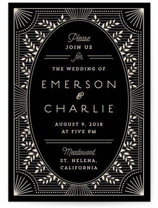 art deco wedding invitations Art Deco Wedding Invitations Together