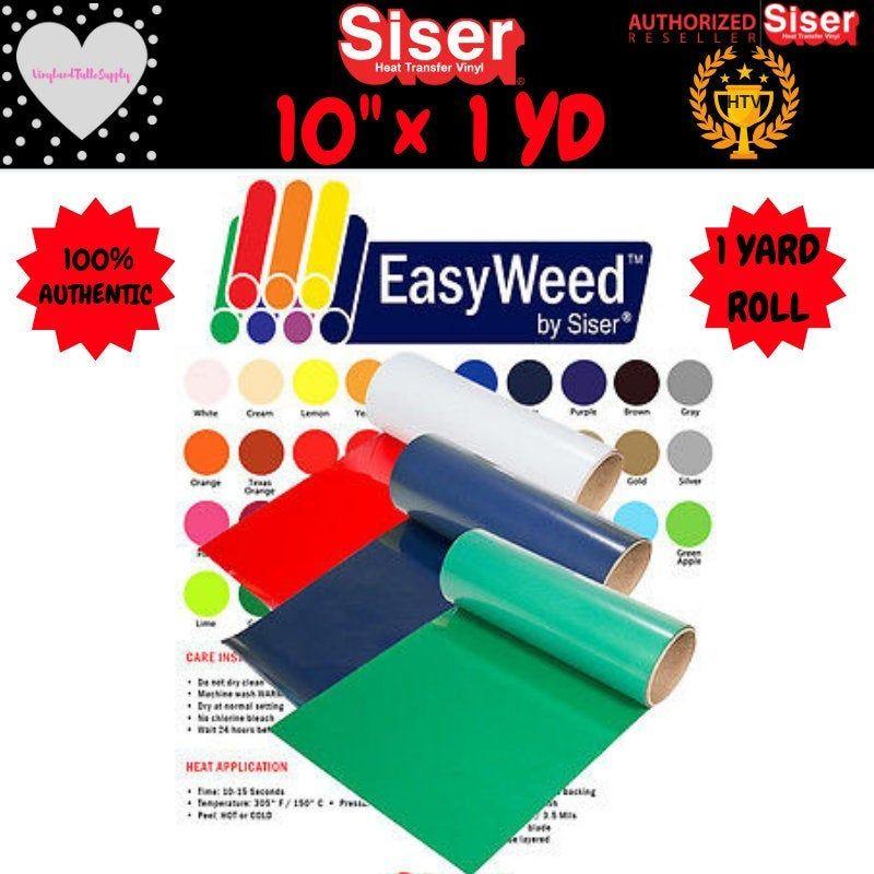 10 X 1 Yard Siser Easyweed Heat Transfer Vinyl Htv 10 X 36 Heat Transfer Vinyl Htv Roll Siser Easyweed Htv Roll Silhouette Heat Transfer Vinyl Siser Easyweed Vinyl Rolls