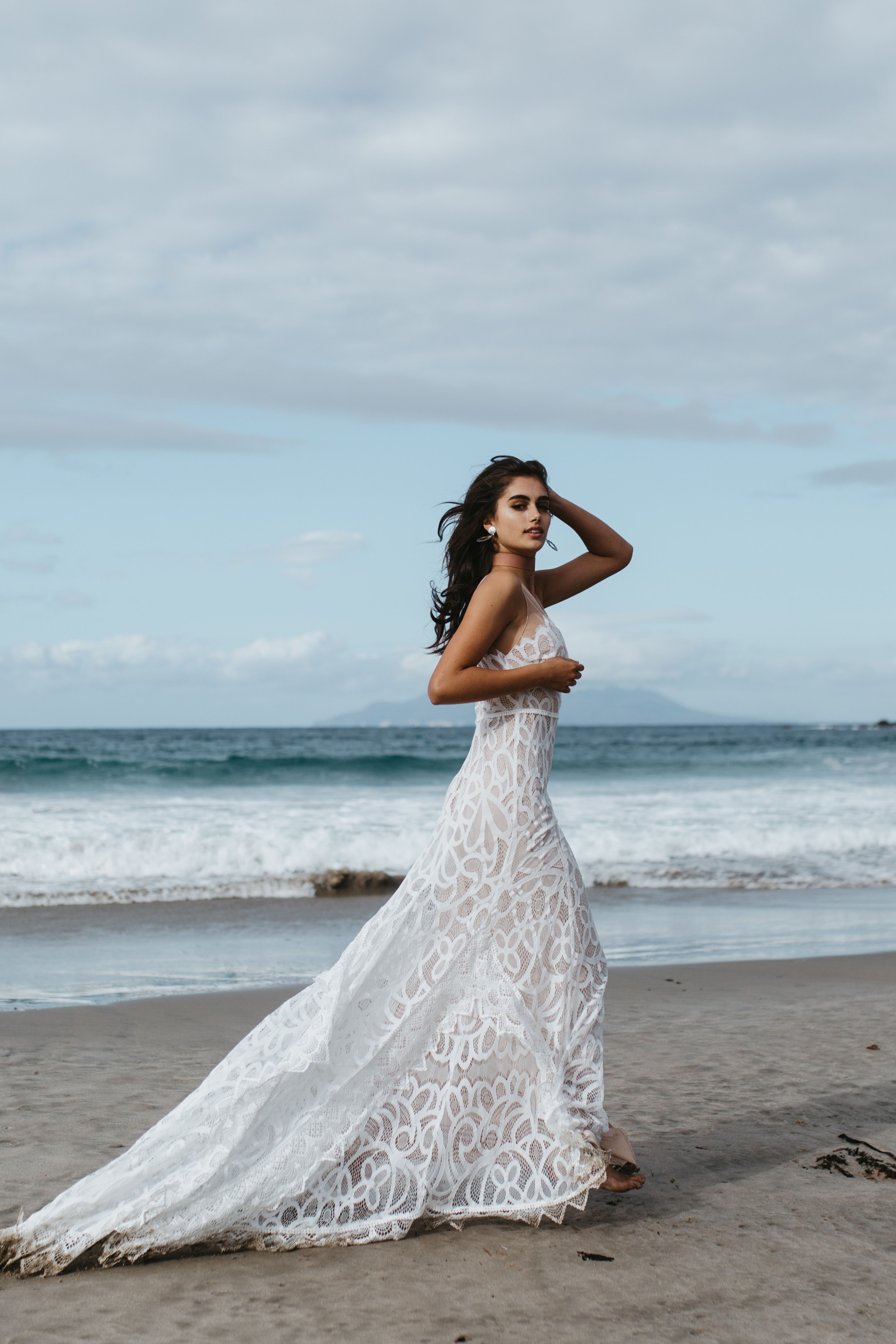 Bohemian style wedding dress by Lovers Society style name Bay gown ...