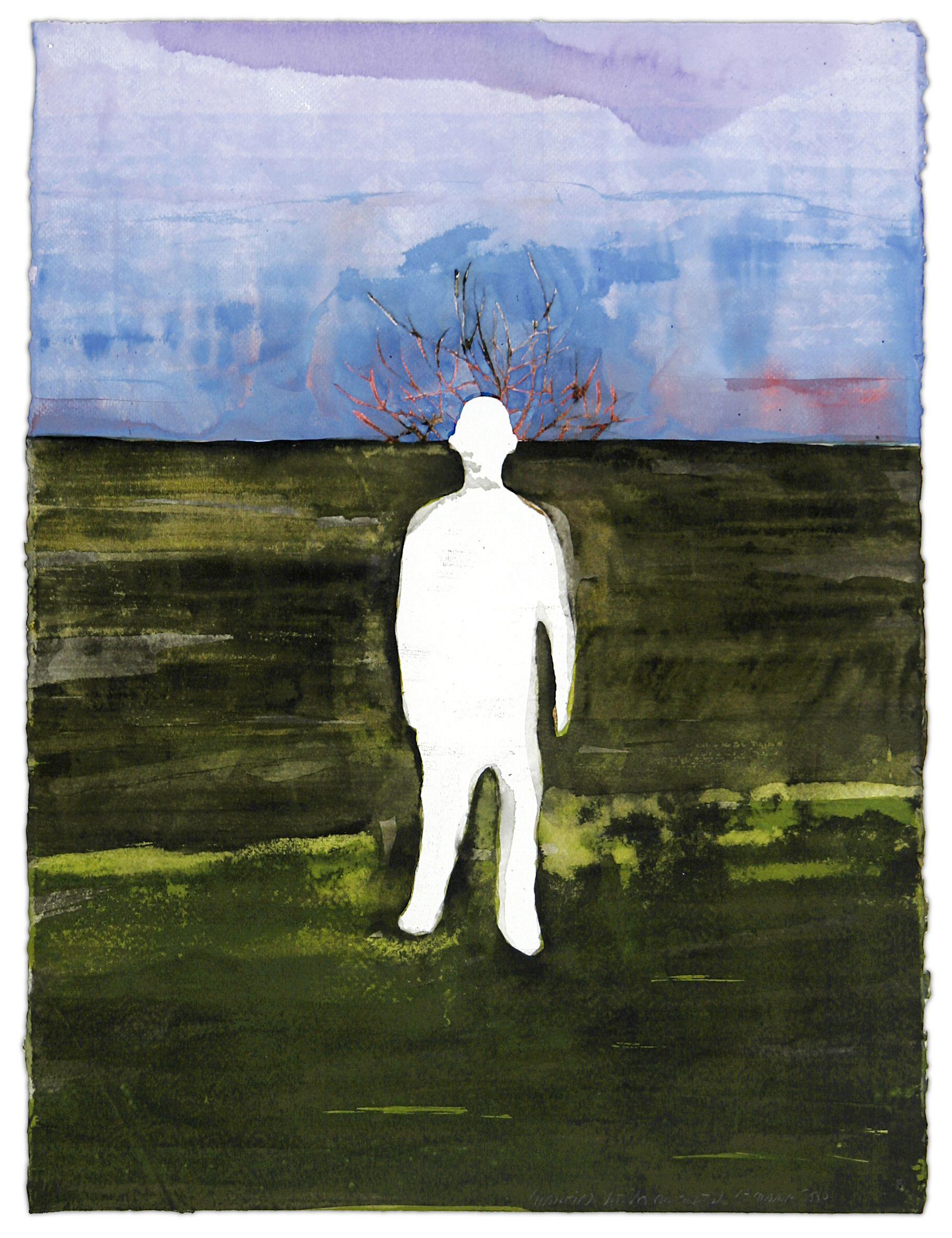 Maurice Christo van Meijel: Gerrit van Houten (2006) inkt op papier, 77 x 57 cm. (collectie SBK Amsterdam)