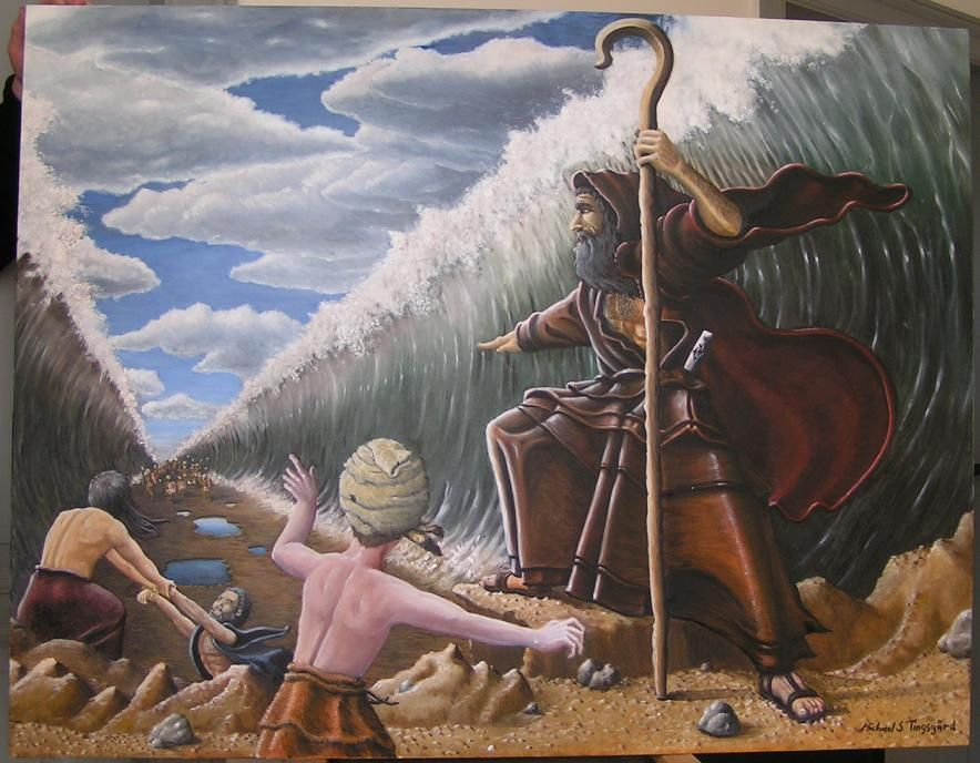 Moses By The Red Sea. By MichaelST On DeviantArt