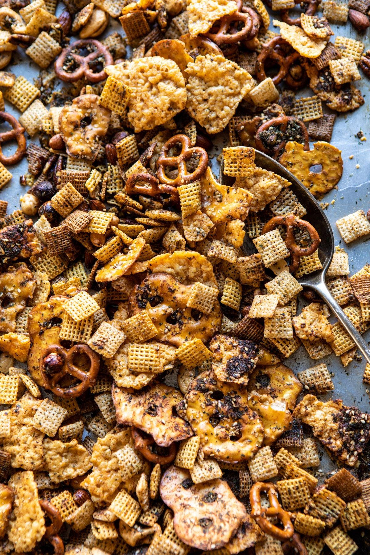 Spicy Ranch Chex Mix #halloweenpotluckideas