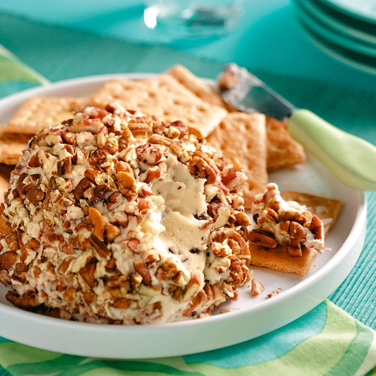 Chocolate Chip Cheese Ball Recipe -Your guests are in for a sweet ...