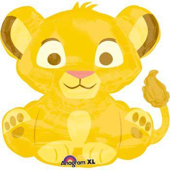 Lion King Shaped Mylar Balloon (each) - Balloons & Party Supplies