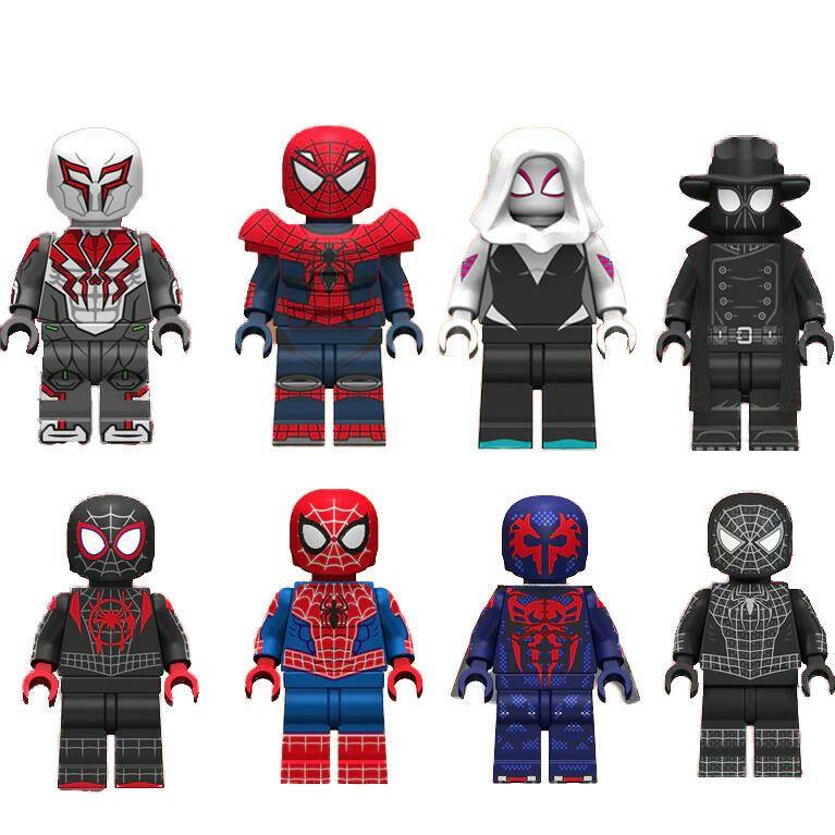Miles Morales Spider-Ham Prowler Gwen Peter Parker Lego Moc Minifigures Toys