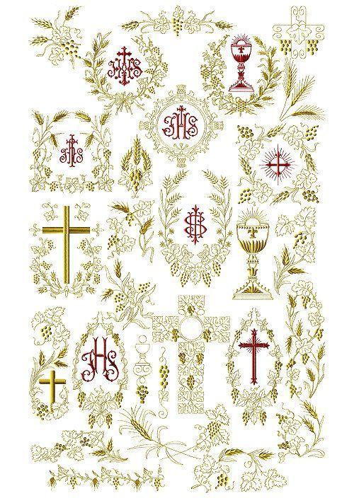 Abc Designs Christian Symbols Machine Embroidery Designs 5x7 Hoop