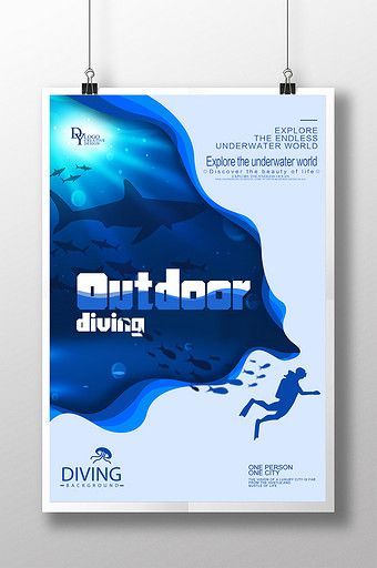 Submarine diving travel poster design | PSD Free Download - Pikbest