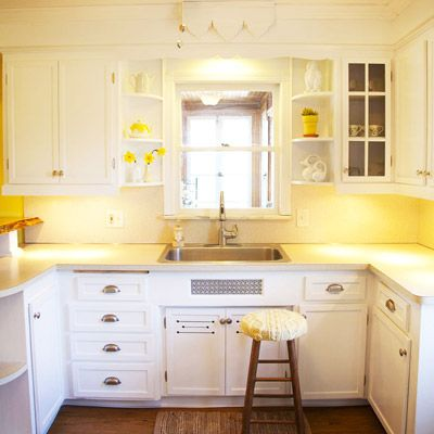 Genial Yellow Kitchen Walls With White Cabinets   Atec 2000