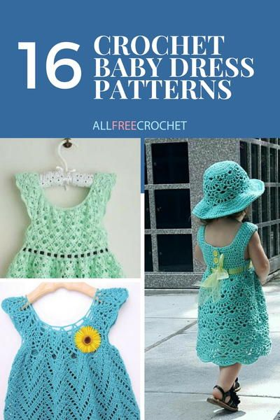 16 Adorable Crochet Baby Dress Patterns Free Vestidos Infantis