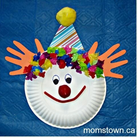 Paper Plate Clowns | momstown National  sc 1 st  Pinterest : paper plate clown craft - pezcame.com