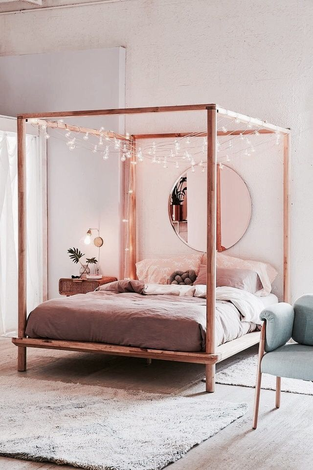 Photo of Bed with fairy lights