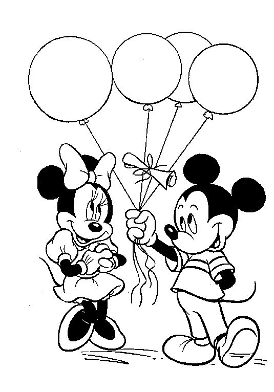 Coloring pages done some how maybe on paper at table Mickey Mouse