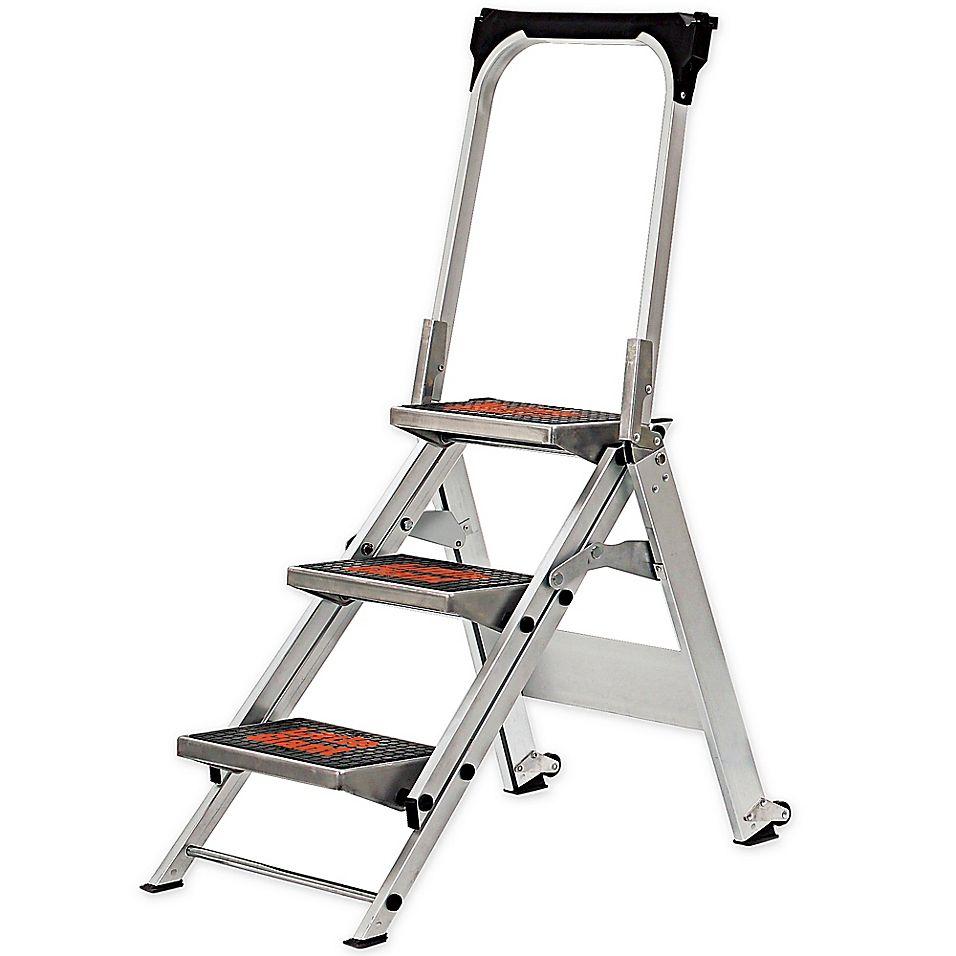 Little Giant 3 Step Safety Aluminum Step Ladder Little