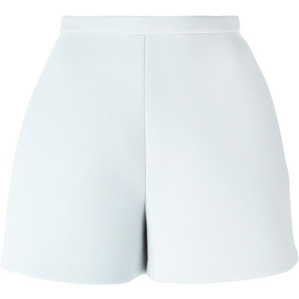 Delpozo Classic Mini Shorts (2.130 DKK) ❤ liked on Polyvore featuring shorts, bottoms, grey, hot short shorts, hot pants, hot shorts, grey shorts and mini shorts