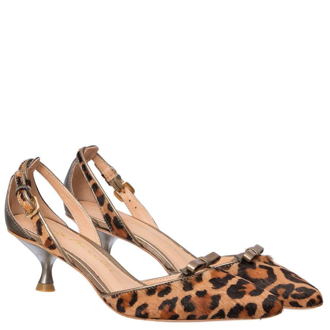 9e0787724 SCARPIN SALTO BAIXO LEOPARDO CAQUI - Luiza Barcelos | short heel ...