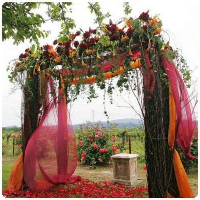 Romantic Fall Wedding Ceremony Ideas