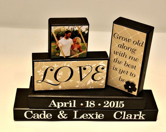 Grow Old Along With Me  Bride and Groom Gift  by TimelessNotion
