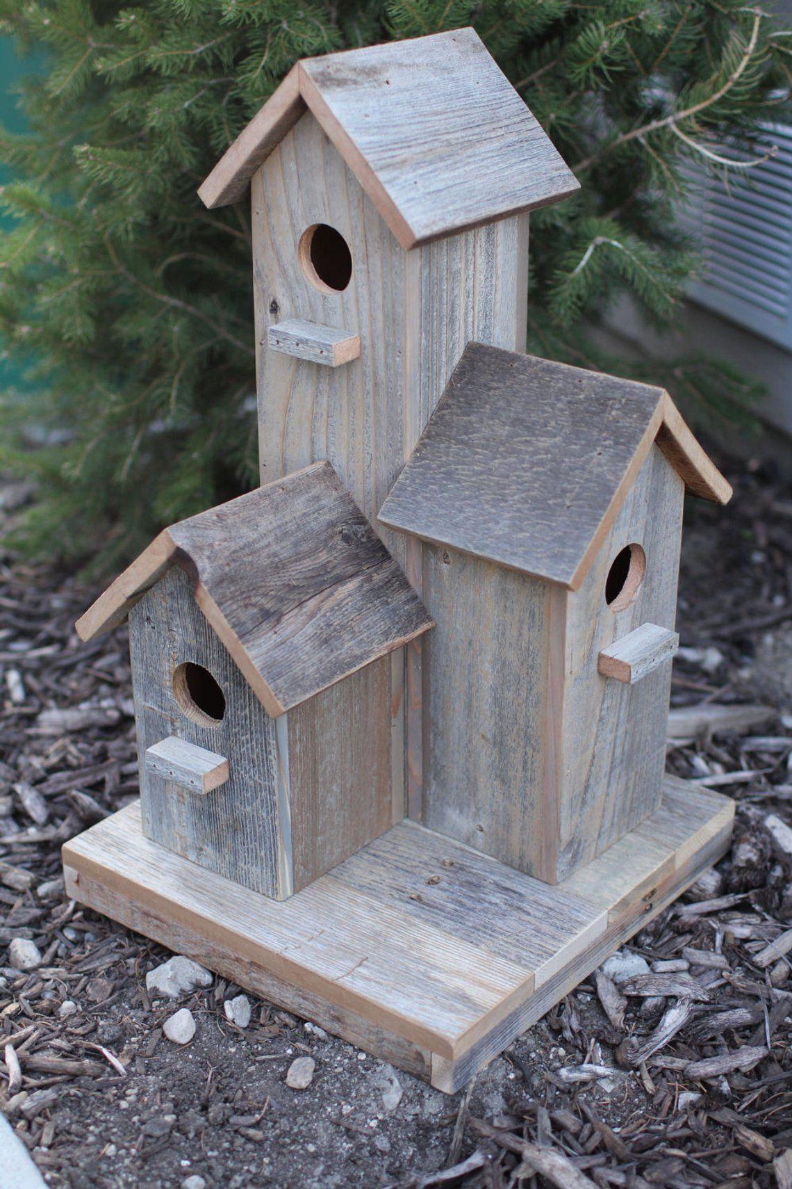 Barnwood Birdhouse Etsy Large Bird Houses Unique Bird Houses Bird Houses
