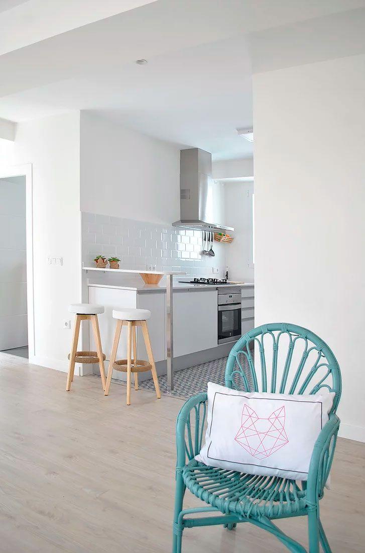 terrazas decoración reforma integral peninsula cocina estilo nórdico ...
