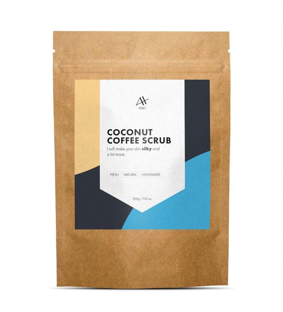 Coconut Coffee Scrub does away with dry, flaky skin.It