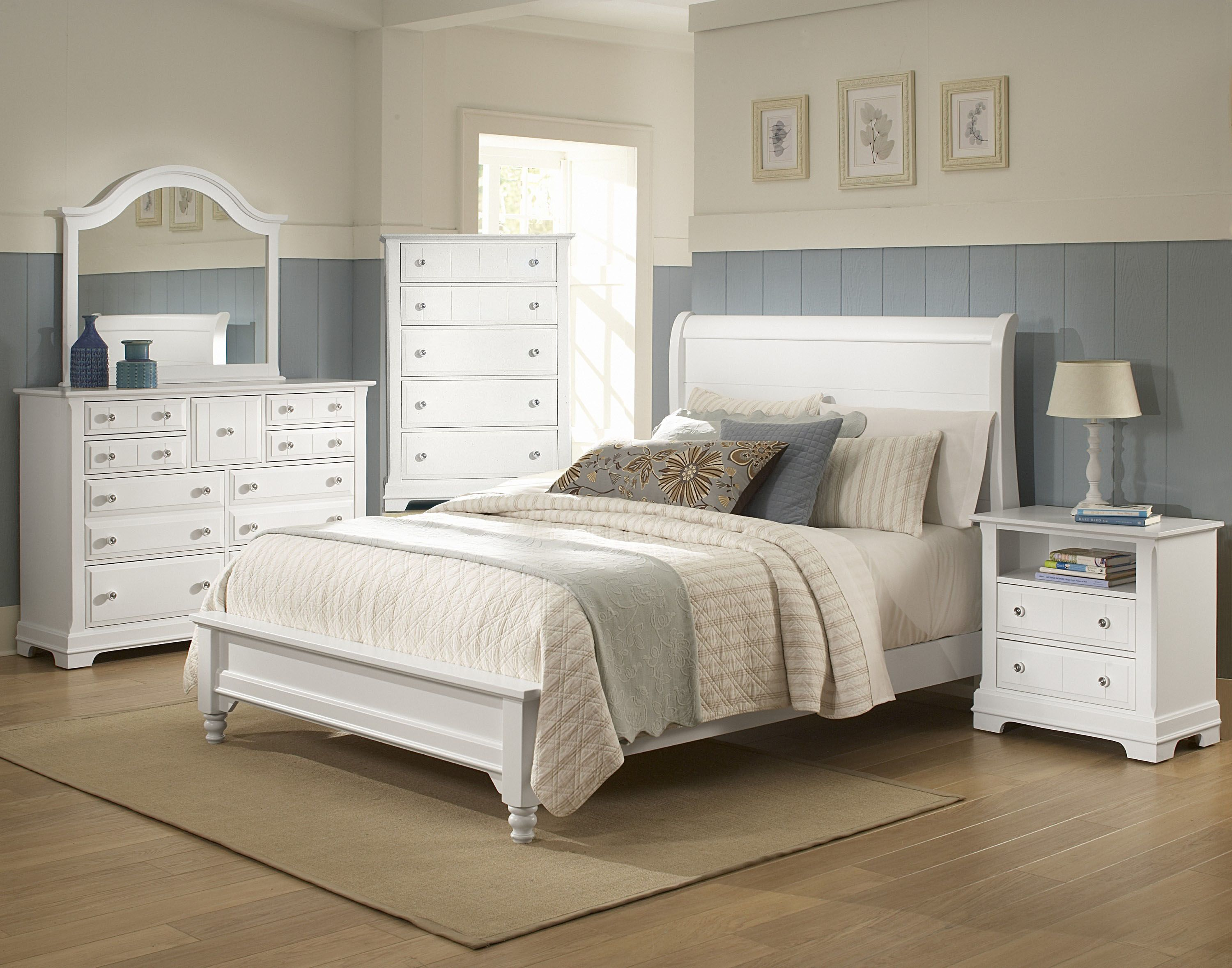 Best The Vaughan Bassett Cottage Collection In Bright White 400 x 300