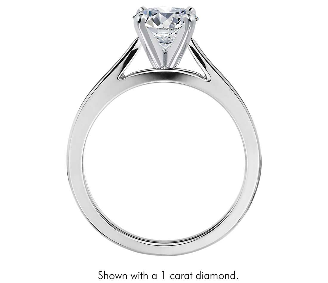 center moissanite products engagement rings ring cathedral setting diamond abigail