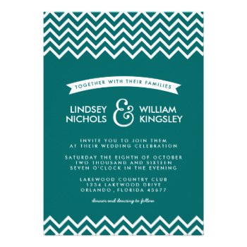 Chic modern wedding invitation design with a trendy zigzag chevron pattern border and sleek simple modern typography on a bold solid colored background. A simple and stylish preppy design, perfect for any season! Click the CUSTOMIZE IT button to customize fonts, move text around and create your own unique one-of-a-kind invitation design. #trendy #summer #wedding #wedding #invitation #modern #wedding #invitations #preppy #chevron #zigzag #chevron #wedding #invitations #modern #wedding ...