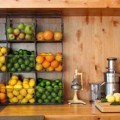 Fruit storage kitchen dining pinterest storage for Cheap kitchen storage ideas