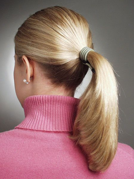 This Is The Closest To An Updo You Get Short Hair Styles Easy Ponytail Hairstyles High Ponytail Hairstyles