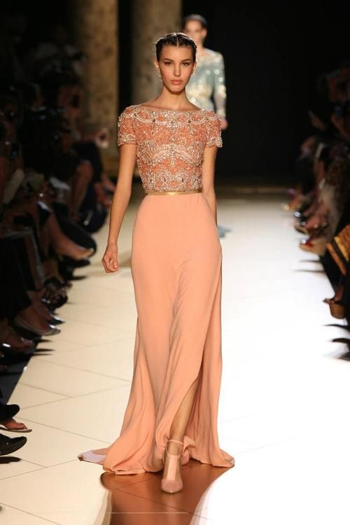 Golden Ribbon Belt Trend for Fall Winter 2012.  Elie Saab  Fall Winter 2012  #fashion #trends